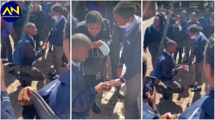 SHS student romantically proposes to girlfriend