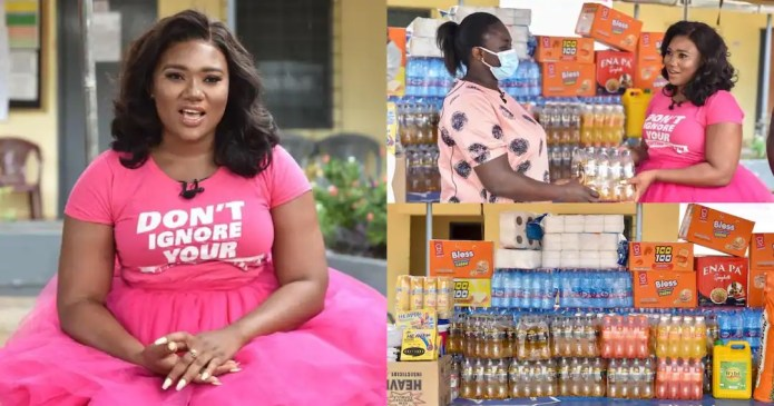 Abena Korkor shows love for mental health patients as she makes donation at Accra Psychiatric Hospital