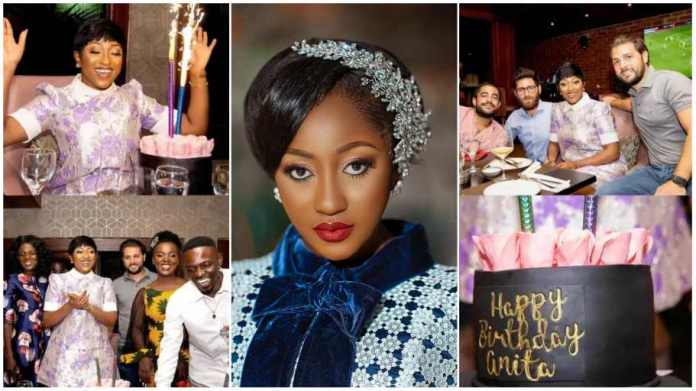Beautiful photos and video pop up Anita Akuffo's holds 28th birthday party [Watch]