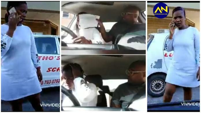 Driving school instructor caught on camera beating up female learner