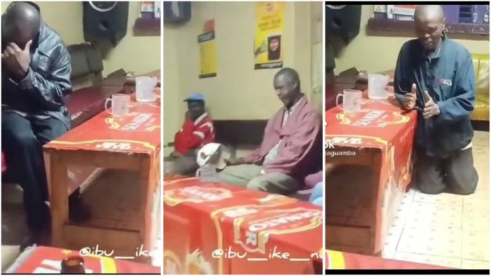 Group of drunkards causes stir as they burst into prayers in a bar