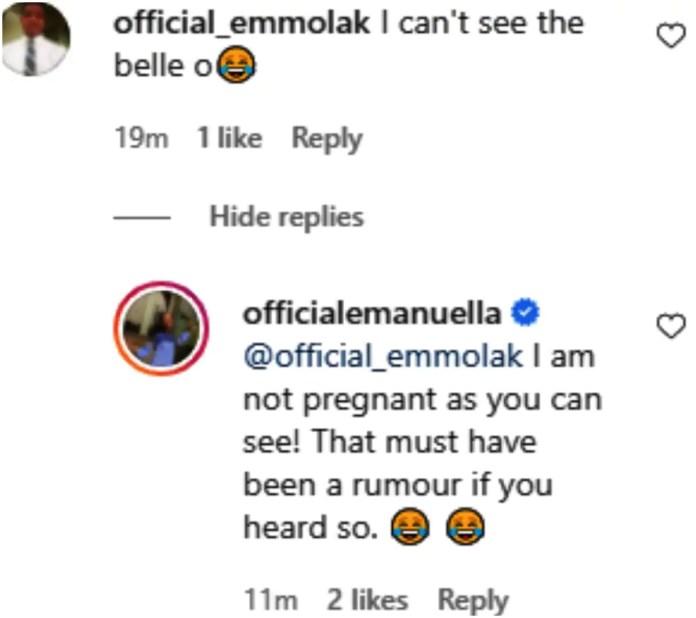 Emmanuella pregnant