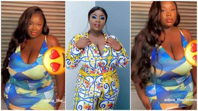 Maame Serwaa breaks the internet with video of her displaying huge melons [Watch]