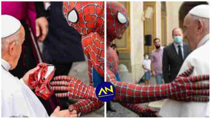 Pope Francis meets 'Spider-Man'