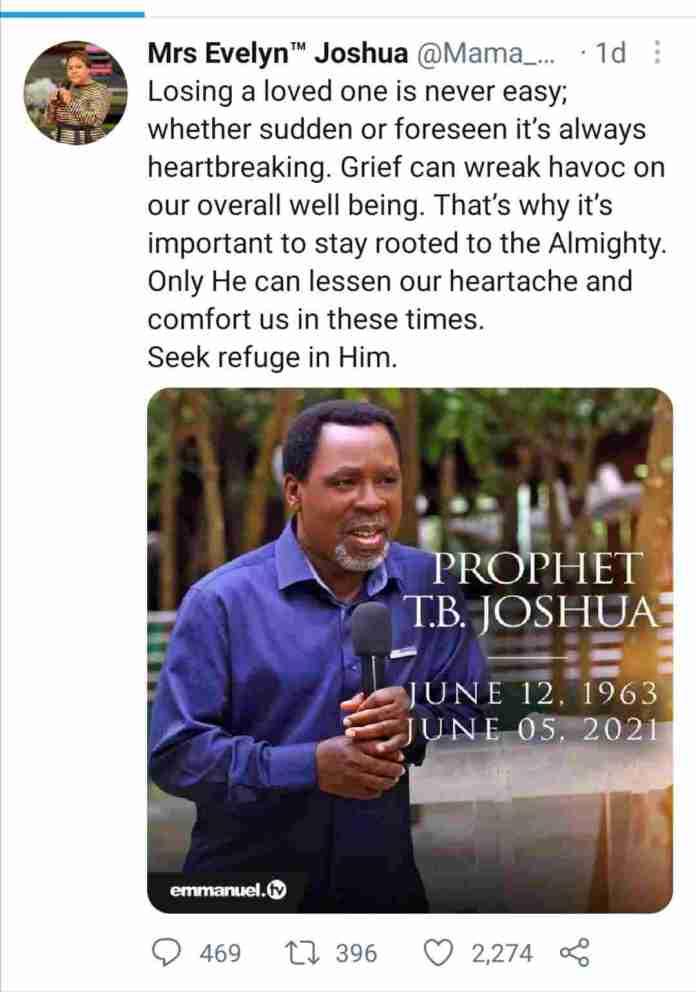 Prophet TB Joshua wife