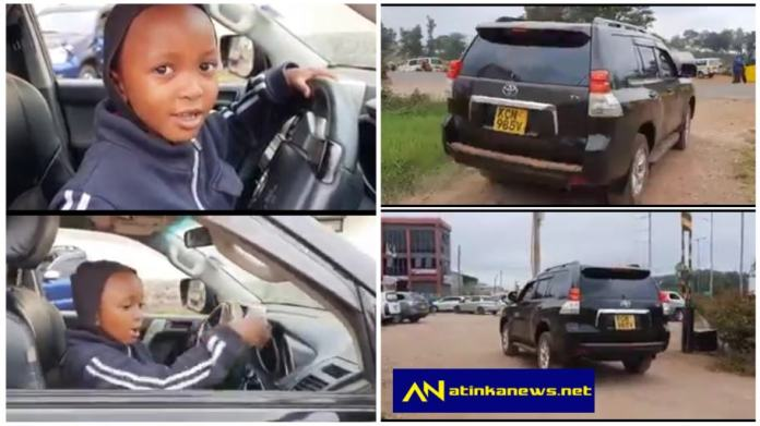 Uproar as 4-year-old boy is spotted driving Prado