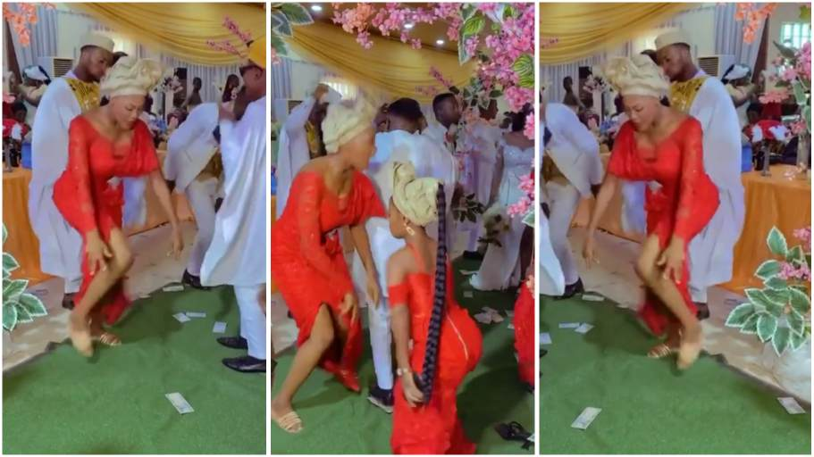 Wedding guest steals show