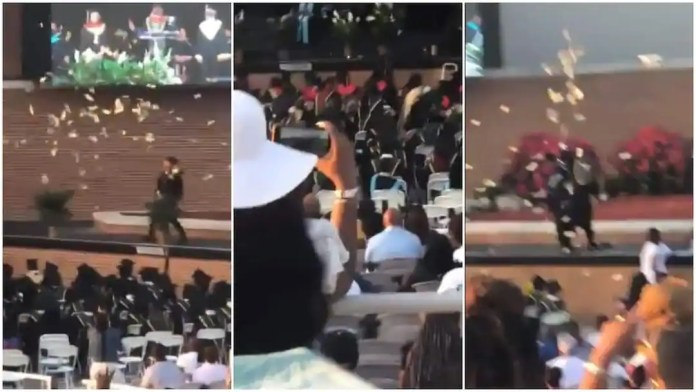 Young man sprays GHC30k during his graduation ceremony in US