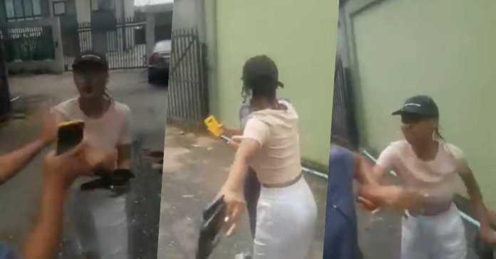 lady assaults Uber driver