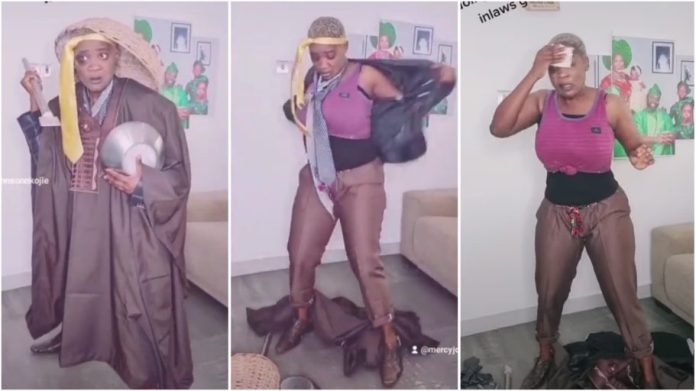 Nollywood actress Mercy Johnson left fans in stitches with her new TikTok video  [watch]
