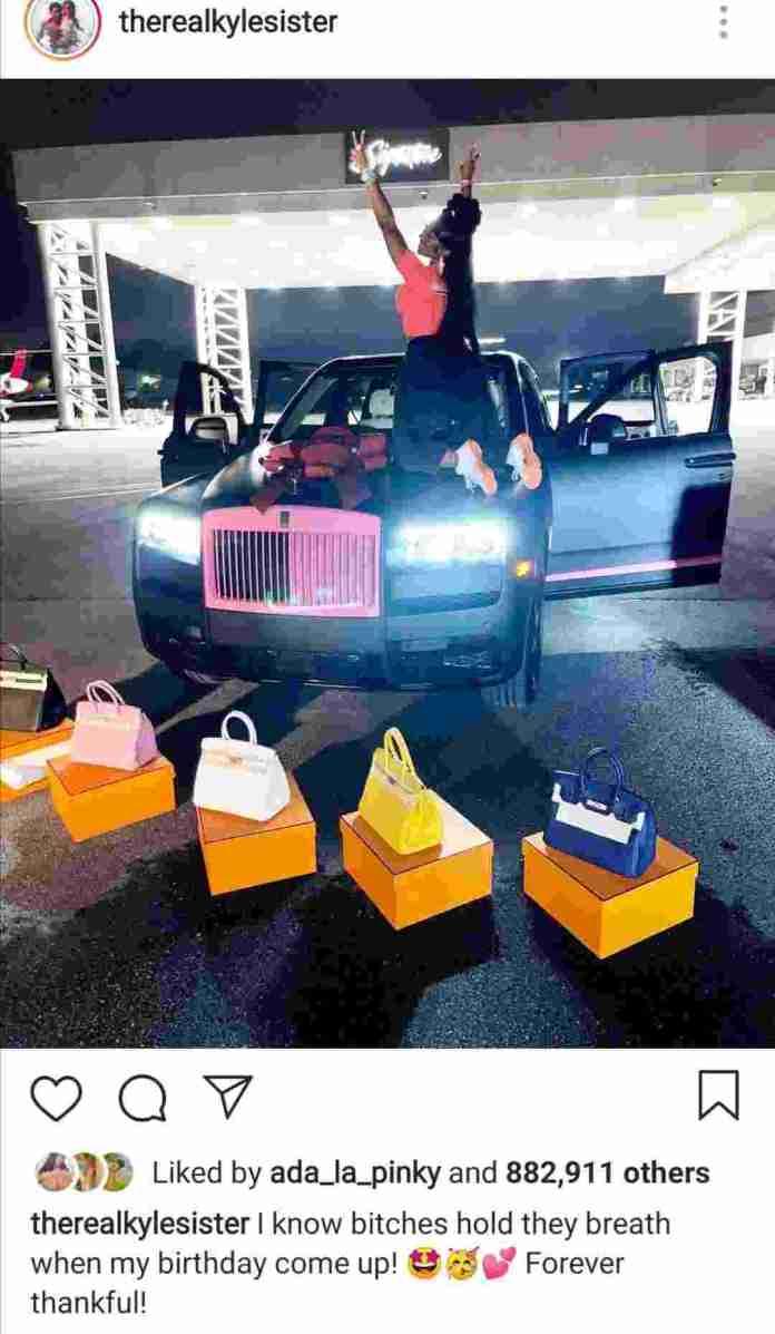 gifting her a custom Rolls Royce cullinan.