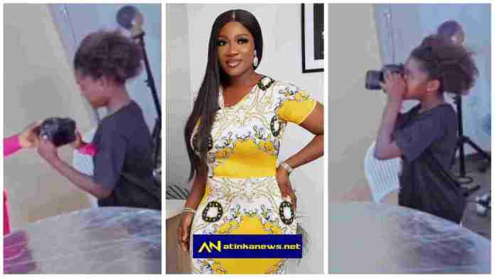 Mercy Johnson's daughter, Purity, shows off her photography skills during mum's photoshoot [Video]