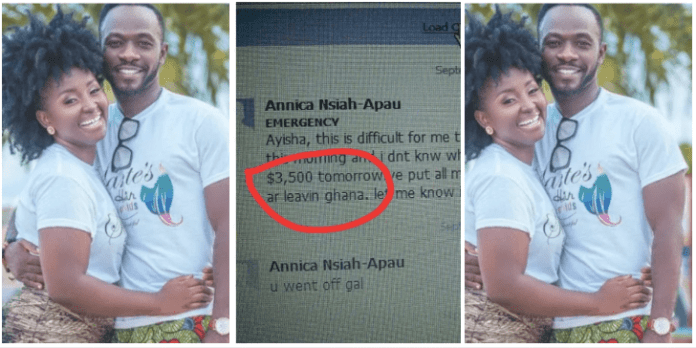 Ayisha Modi humiliates Okyeame Kwame's wife as she leaks chat of her begging her for $3,600