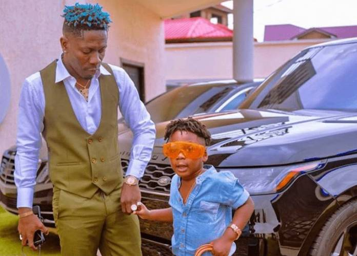 Shatta Wale's son Majesty looking just like his father when angry stunned fans [video]