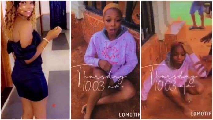 Slay Queen str¡pped and beaten after she stole from a guy who invited her home [video]