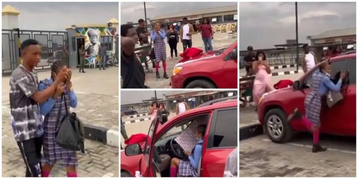 Young man surprises his JHS girlfriend with brand new SUV car