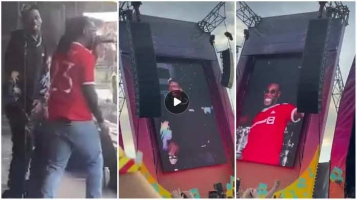 Paul Pogba joins Burna Boy on stage