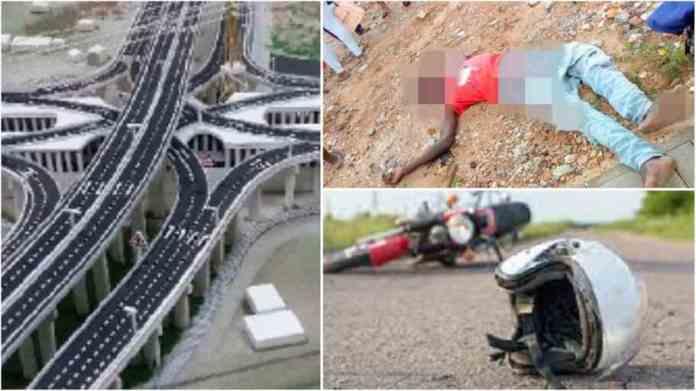 riders dies after falling off 3rd-tier of Pokuase interchange