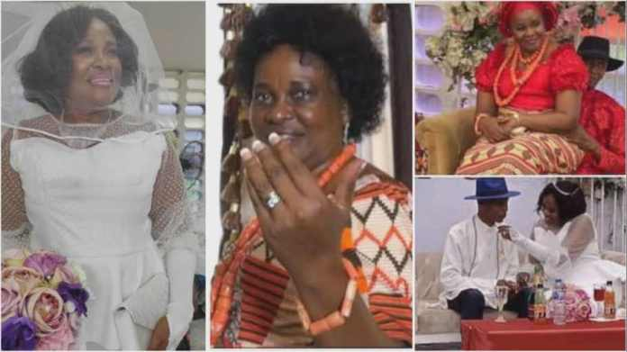 64-year-old woman finally marries for 1st time