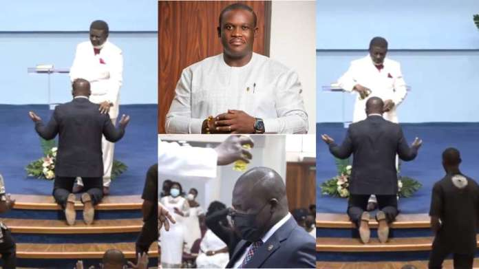 Sam George anointed by Bishop Charles Agyinasare to fight LGBTQI+