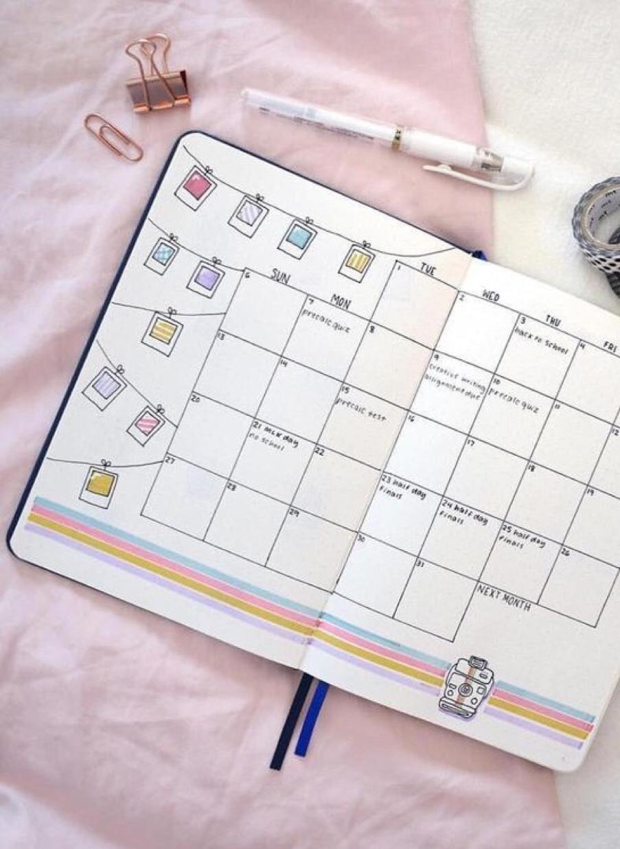 month, calendar, polaroid