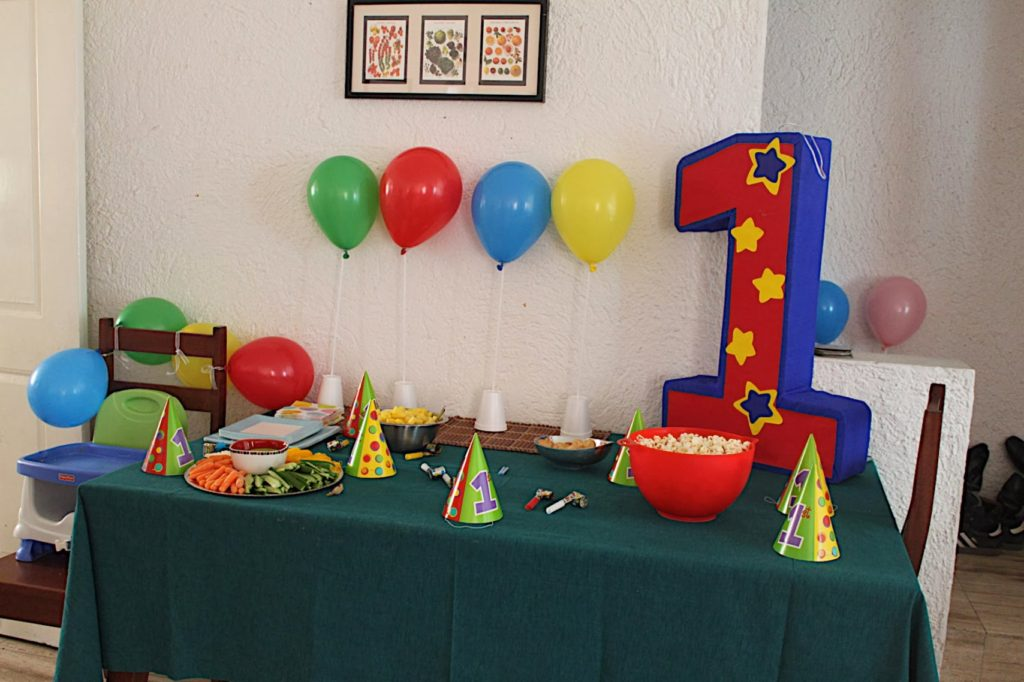 Baby Brother S Balloon Themed First Birthday Party A Tiny Trip