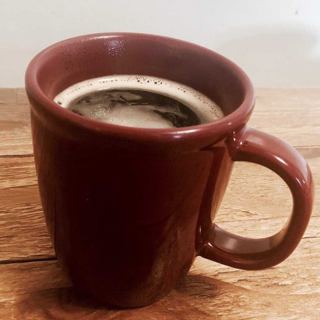 a morning mug of coffee to simplify your morning routine