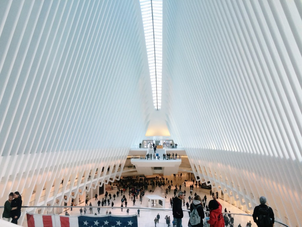 inside the oculus at world trade center