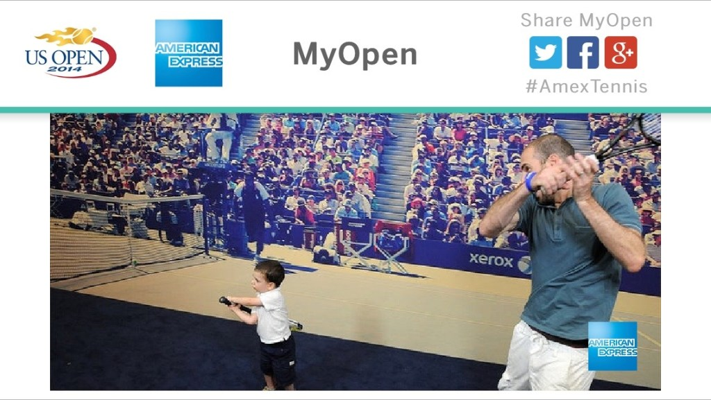 a free picture souvenir from the us open
