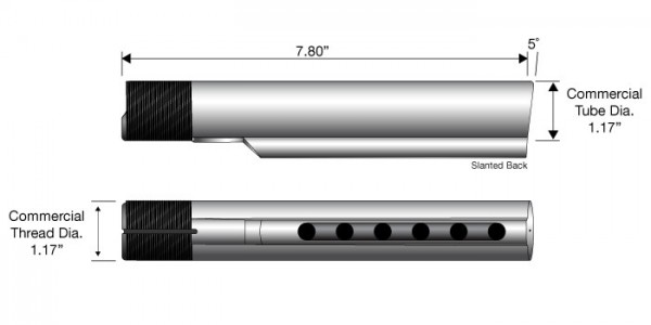 AR-15 Commercial Buffer Tube