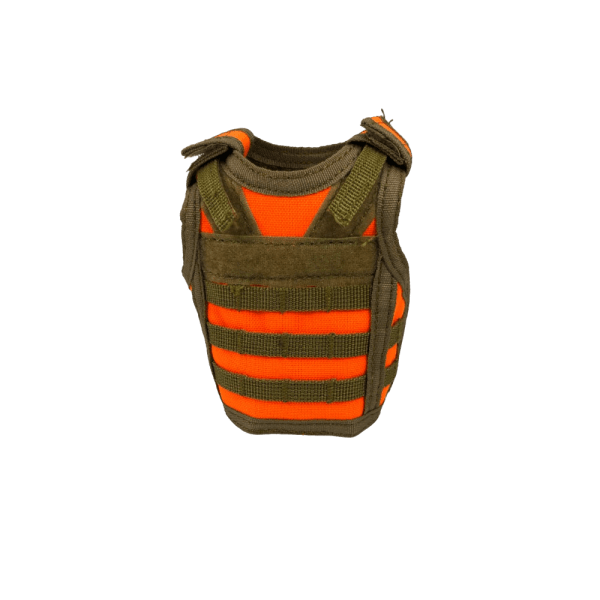 Blaze Orange Hunting Vest Koozie