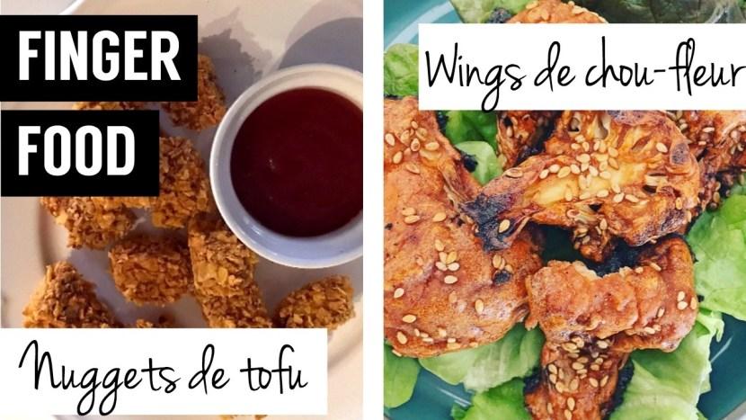 finger food - nuggets de tofu - wings chou-fleur - recettes végétariennes et vegan - atirelarigot
