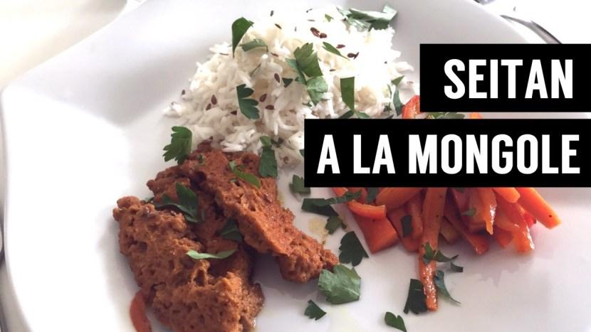 seitan à la mongole - recettes végétariennes et vegan - atirelarigot