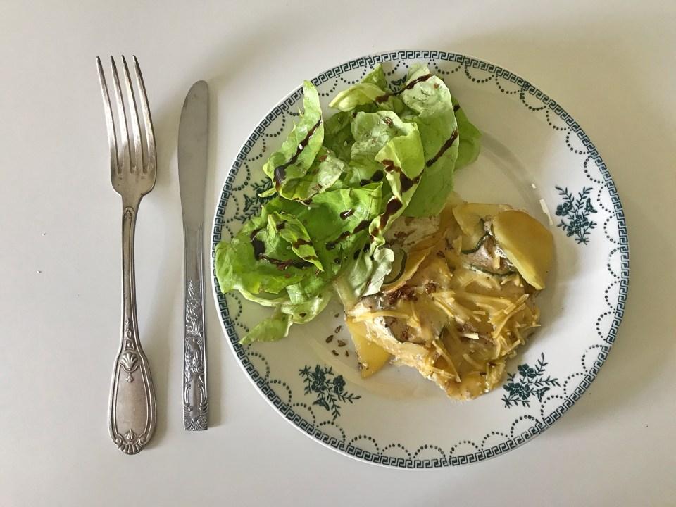 gratin courgettes citron - pizza aux oignons caramélisés, flan de carottes, - recettes végétariennes et vegan - atirelarigot