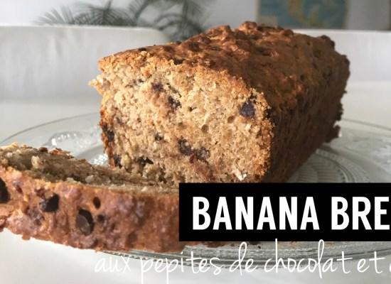 banana bread peptides chocolat - recettes végétariennes et vegan - atirelarigot