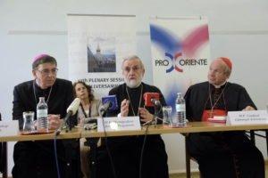 PK Dialogkommission / Dialogue Commission, Kurt Koch, Kardinal Christoph Sch?nborn, Ioannis Zizioulas