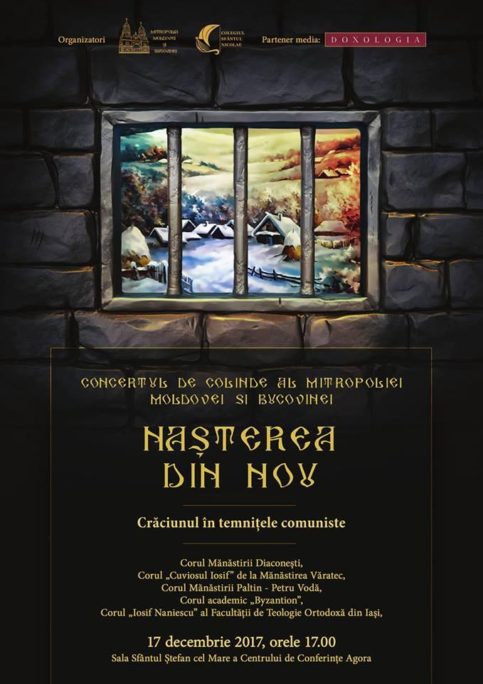 Concertul de colinde al Mitropoliei Moldovei și Bucovinei-Concert de colinde în Iași 17 Decembrie ora 17