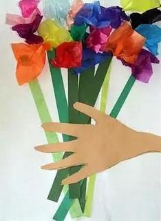 colagem buque de flores dia das maes