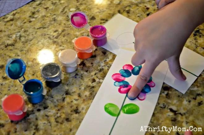 flores pintadas com dedo