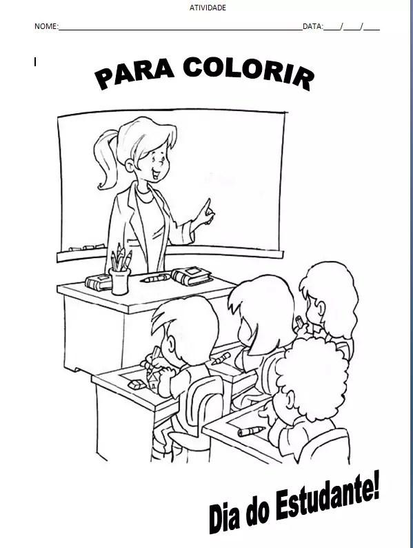 atividade colorir dia do estudante2