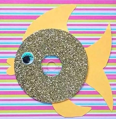 peixe cd reciclado