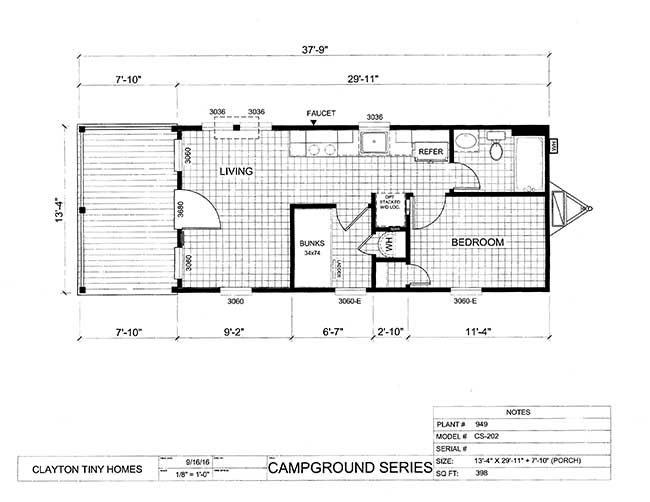 Park model rv floor plans for Rv park blueprints