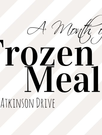 A Month of Frozen Meals