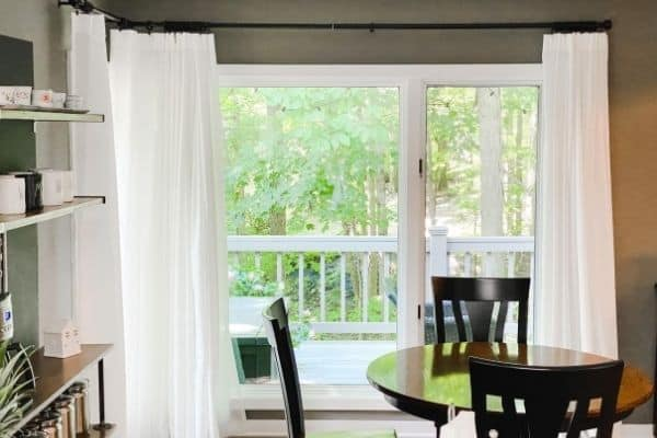 corner curtain rod