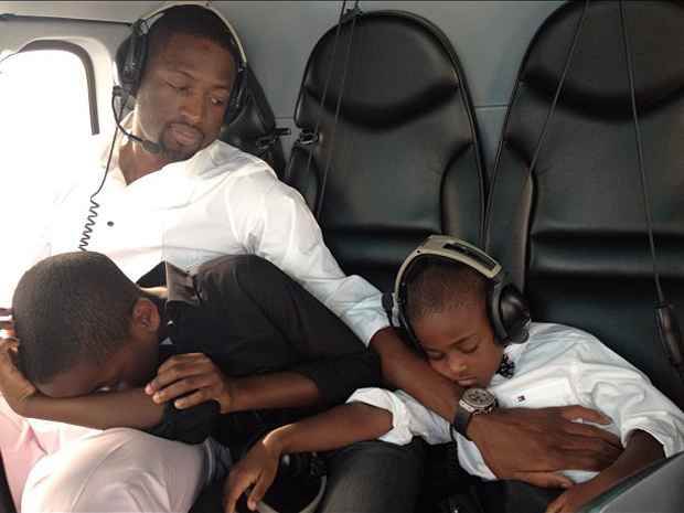 Dwyane Wade and his kids 2013 photos