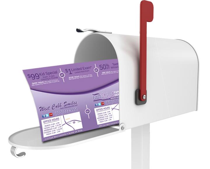 dentist marketing post office mailbox