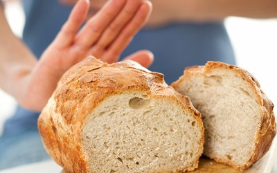 lady pushing bread away