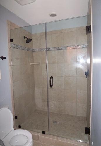 Shower Door With Fixednotched Panel
