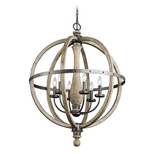 Kichler Evan five-light chandelier