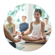 kids practicing meditation
